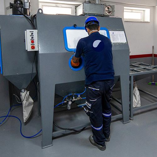 Machining, Sand Blasting, Hydraulic Press